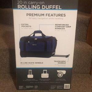 Other - 💙NWT Premium Carry-On Rolling Duffel